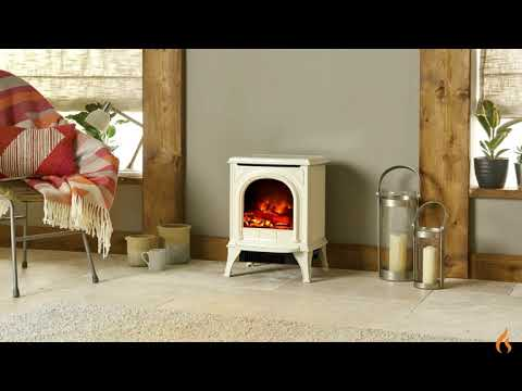 Gazco Huntingdon 20 electric stove in Ivory Enamel